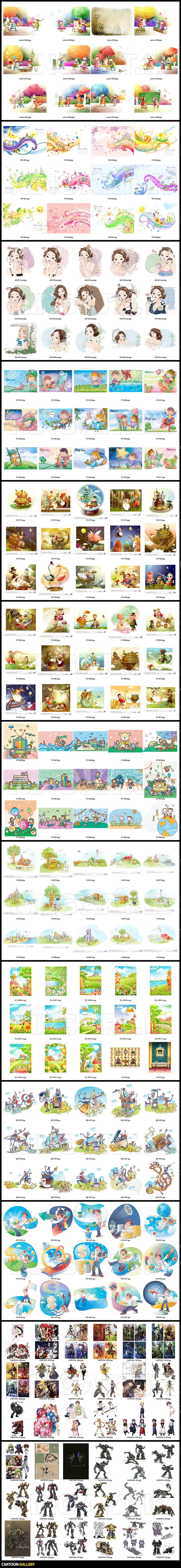 Cartoon Gallery فایل های لایه باز کارتونی ( عکس های کارتونی - تصویر کارتونی شخصیت های کارتونی )