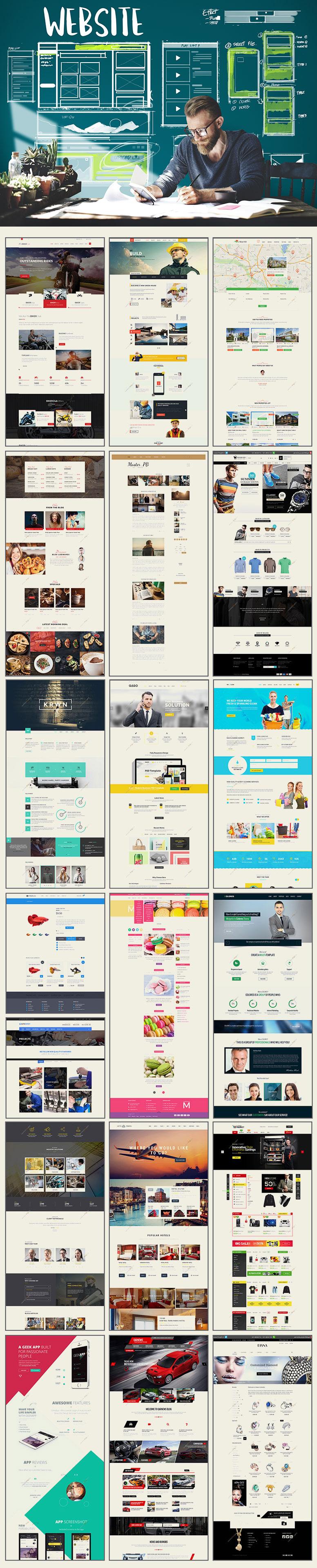 قالب وب سایت web graphic گرافیک وب