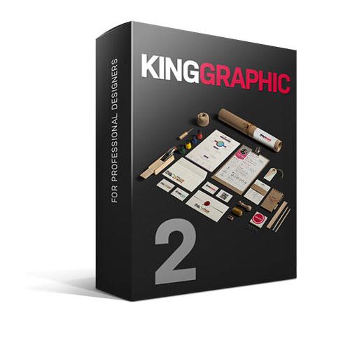 کینگ گرافیک ول 2 - مجموعه غنی وارزشمند شامل فایل گرافیکی ، فایل لایه باز psd و موکاپ KingGraphic-2